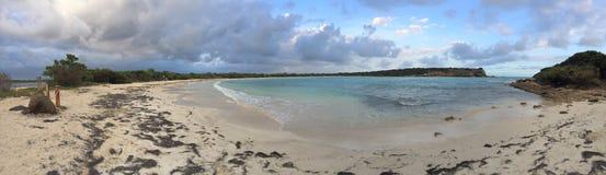 Panorama losu angeles Playuela plaża w Puerto Rico Obrazy Royalty Free