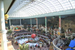 Panorama of Lotte World in Seoul, Korea Stock Photos