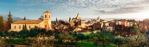 Panorama of Lourmarin. France. Panorama of Lourmarin. Listed as the most beautiful villages of France. Provence-Alpes-Cote d`Azur Stock Photography