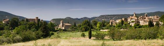 Panorama of Lourmarin. Provence, France Royalty Free Stock Photography