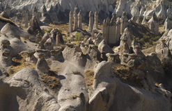 Panorama of Love Valley. Cappadocia, Turkey Royalty Free Stock Photo