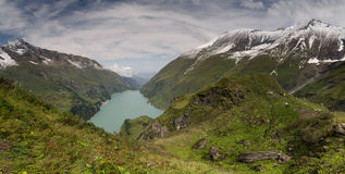 Panorama of lower Kaprun dam 1, Stauseen, Austria Stock Photography