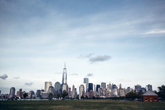 Panorama of Lower Manhattan in New York Royalty Free Stock Photography