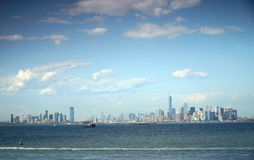 Panorama of lower Manhattan Royalty Free Stock Image