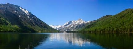 Panorama of lower Multa lake Stock Photo