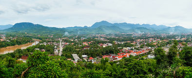 Panorama of Luang Prabang Royalty Free Stock Image