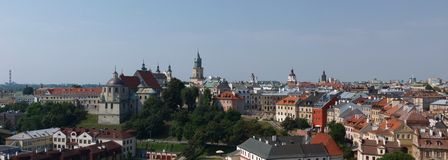 Panorama of Lublin, Poland Stock Images
