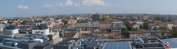 Panorama of Lublin, Poland Royalty Free Stock Images