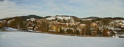 Panorama Lucany nad Nisou - Tschechische Republik stockfotografie