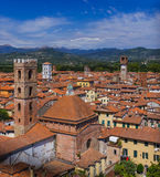 Panorama of Lucca Italia Stock Images