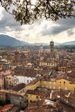 Panorama of Lucca from the Torre Guinigi Royalty Free Stock Image