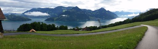Panorama Lucern die Schweiz stockbilder