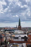 Panorama luchtmening van Kopenhagen, Denemarken Royalty-vrije Stock Foto