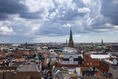 Panorama luchtmening van Kopenhagen, Denemarken Royalty-vrije Stock Fotografie