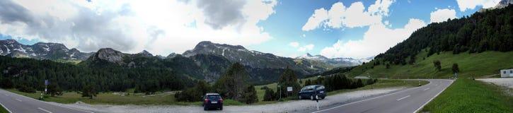 Panorama at a Swiss Pass Royalty Free Stock Photos