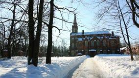 Panorama of Lutheran church in Puskin city Royalty Free Stock Photo