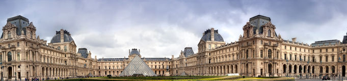 Panorama Luvra, Parigi, Fotografia Stock