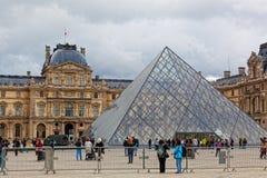 Panorama Luvra, Paris, Frankrike Royaltyfria Foton