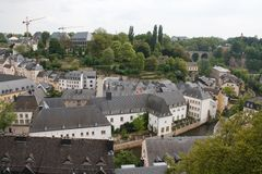 Panorama of Luxembourg Stock Photography