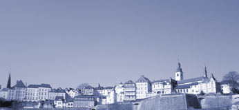 Panorama of Luxembourg-City Stock Photography