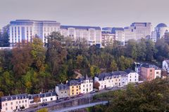 Panorama of Luxembourg City. Luxembourg City, Luxembourg Royalty Free Stock Photography