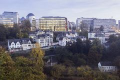 Panorama of Luxembourg City Royalty Free Stock Photo