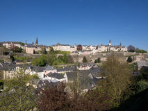 Panorama Of Luxembourg City. Panoramic View Of Luxembourg City Royalty Free Stock Images