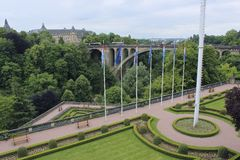 Panorama of Luxembourg, Luxembourg. Panorama of Luxembourg city, Luxembourg Stock Images