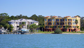 Panorama of Luxury beach house with docking Stock Photo