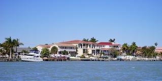Panorama of Luxury beach house Stock Photography