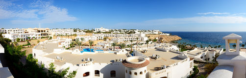 Panorama of the luxury hotel, Sharm el Sheikh Stock Photos