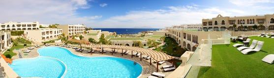 Panorama of the luxury hotel Stock Photos
