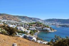 Panorama - luxury resort on Aegean Sea Royalty Free Stock Photos