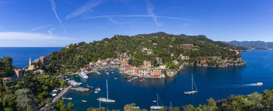 Panorama of luxury resort Portofino in Liguria royalty free stock image
