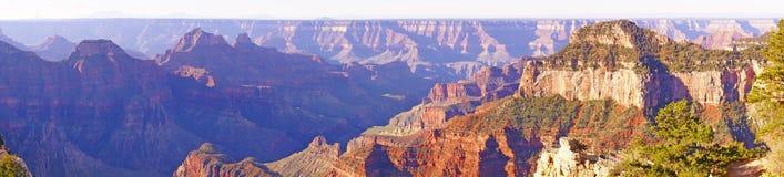 Panorama, luz do amanhecer Fotos de Stock