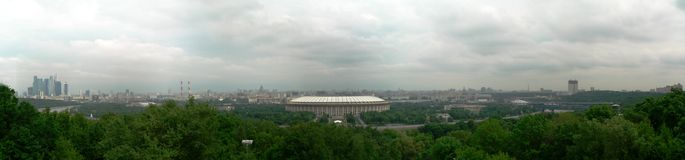 Panorama Luzhniki Stadium in Moscow Stock Images