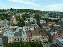 Panorama of Lviv Royalty Free Stock Images