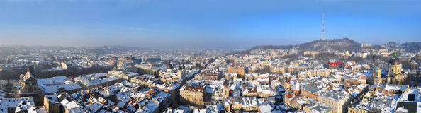 Panorama of the Lviv Stock Images