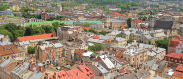 Panorama of Lviv Royalty Free Stock Photography