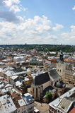 Panorama of Lviv. Cloudy sky, Ukraine Stock Photo