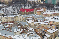 Panorama of Lviv from the height Stock Photo