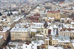 Panorama Lviv od wzrosta Fotografia Royalty Free