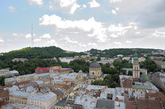 Panorama Lviv. Royalty Free Stock Images