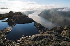 Panorama Lysefjord, Norwegia Obraz Royalty Free