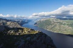 Panorama Lysefjord, Norwegia Zdjęcie Stock