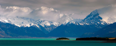 Panorama méridional d'Alpes Photos libres de droits