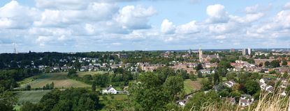 Panorama of Maastricht, Netherlands Royalty Free Stock Image