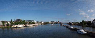 Panorama of Maastricht, Netherlands Royalty Free Stock Photo