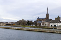Panorama of Maastricht, Netherlands in winter day Royalty Free Stock Photos