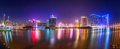Panorama Macao Cityscape Stock Photography